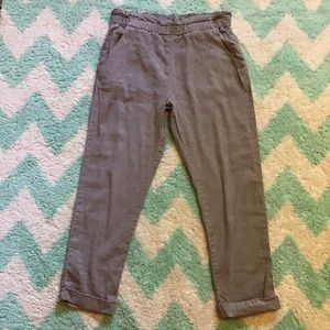 FREE PEOPLE linen blend paperbag waist jogger 4 6